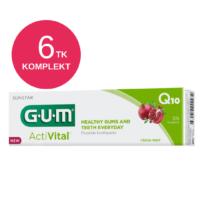 GUM ActiVital hambapasta Q10 ja granaatõunaga 75ml (6 tk)