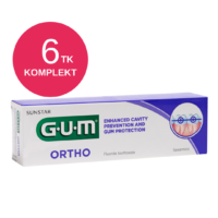 GUM ORTHO ortodontiline geelhambapasta 75ml (6 tk)
